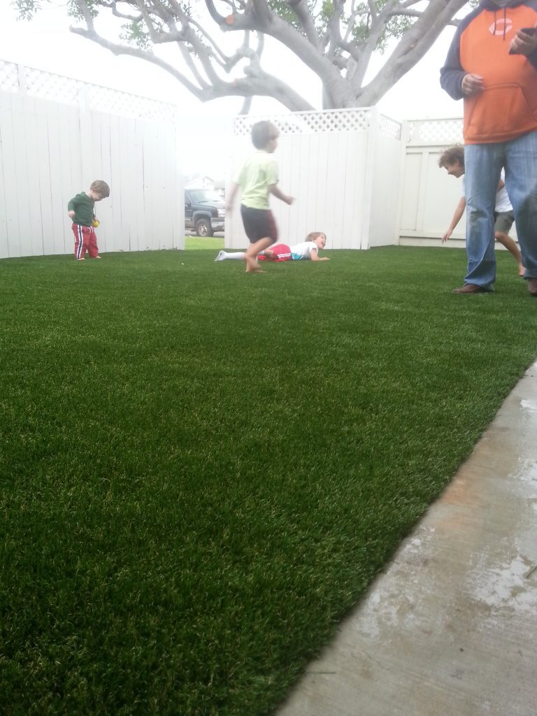 Synthetic Lawn Playground Installation Oceanside, Best Artificial Turf Backyard Playgrounds